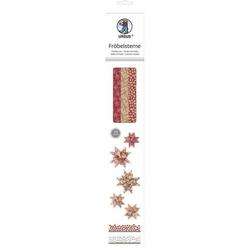 Faltstreifen Fröbelsterne Kraftpapier rot/weiß/schwarz