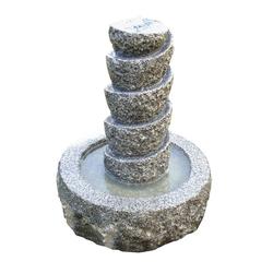 Dehner Gartenbrunnen Drill inkl. LED, Ø 45 cm, Höhe 55 cm, Granit