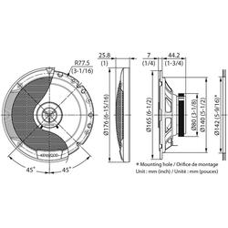 Kenwood Multiroom-Lautsprecher (Kenwood KFC-S1766 - 16cm 2-Wege Koax Lautsprecher)