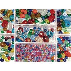 Rayher Perlen-Set Glasperlenbox bunt