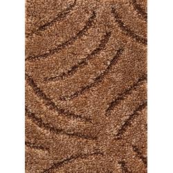 Teppichboden Amberg, Andiamo, rechteckig, Höhe 9 mm, Meterware, Breite 300 cm, Hoch-Tief Teppichboden braun