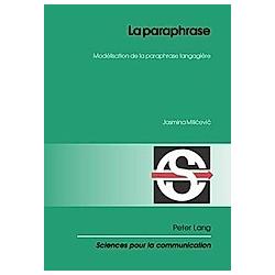La paraphrase. Jasmina Milicevic  - Buch