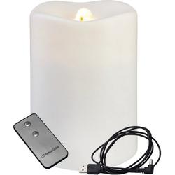 STAR TRADING LED-Kerze LED Dekokerze/Brunnen Quelle des Feuers - warmweiß - USB/Batterie - Timer - Zimmerbrunnen