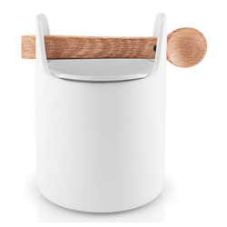 Eva Solo Aufbewahrungsbox Toolbox mit Löffel Eiche/Keramik Weiß H 15 cm, Keramik, (1-tlg)