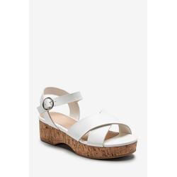Next Keilabsatzsandalen mit Korkabsatz Sandale 34,5