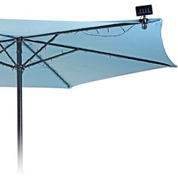 Solar Sonnenschirmbeleuchtung - Lichterkette für Sonnenschirm - 72 LED Beleuchtung Ø 280 cm