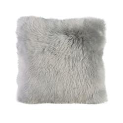 Gözze Schaffell-Kissen, 40 x 40 cm, Echtfellkissen in aktuellen trendigen Farben, Farbe: silber
