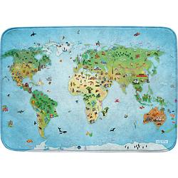 Ultrasoft Spielteppich Um die Welt, 100 x 150 cm blau-kombi