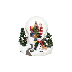 SIGRO Schneekugel Schneekugel Santa Bär