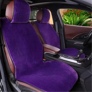 Plüsch Auto Sitzauflage, Faux Lammfell Autositzbezug, Winter Warme Sitzkissenbezug, Sitzbezug mit Reißverschluss System (Lila)