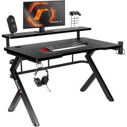 huzaro Schreibtisch Black Hero 5.0 Gaming Tisch Schreibtisch PC Computer Schreibtisch ergonomische Kohle Tisch Platte schwarz 120 x 60 x 70 cm Standard