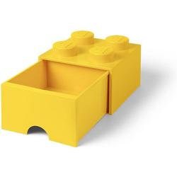 Room Copenhagen Aufbewahrungsbox Lego - Aufbewahrungsbox im Legostein Design mit einer Schublade - gelb