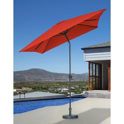 garten gut Sonnenschirm, LxB: 200x300 cm, abknickbar, ohne Schirmständer rot