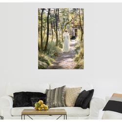 Posterlounge Wandbild, Marie auf einem Gartenweg 100 cm x 130 cm