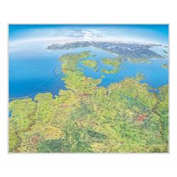 Panoramakarte Norddeutschland