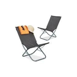 relaxdays Campingstuhl Liegestuhl faltbar 2er Set