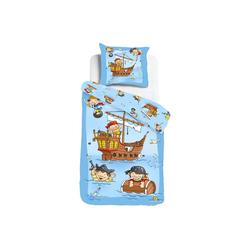 Kinderbettwäsche Piratenschiff, ESPiCO, Digitaldruck, Seeräuber, Piraten bunt