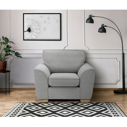 DELAVITA Sessel Savoy, gemütlicher Sessel,k in 2 Bezugsqualitäten grau