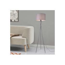 lux.pro Stehlampe, Grenoble Stehleuchte 154cm Design Dreifuß Lampe grau grau