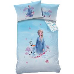 Wende-Kinderbettwäsche Disney Frozen 2 - Destiny, 100 x 135 cm blau/weiß Gr. 100 x 135 + 40 x 60