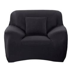 Sofahusse 1-Sitzer Sofabezug elastischer Sofahussen elastischer Sofabezug Sofabezug Sofabezug universeller elastischer Bezug Sesselbezug 90-140CM, kueatily schwarz