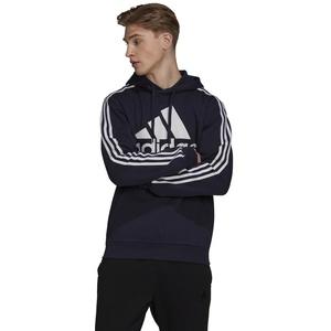 Adidas Herren Essentials Fleece 3-Streifen Logo Hoodie - legend ink/white