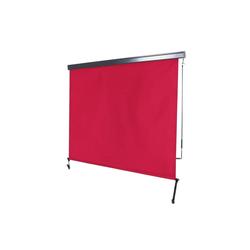 MCW Senkrechtmarkise MCW-F42 UV-Schutz 50, Windklasse 2 rot 180 cm x 250 cm