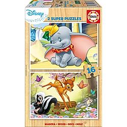 Holzpuzzle Dumbo & Bambi (Kinderpuzzle)
