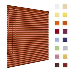 Alu-Jalousien, Jalousien, Horizontaljalousien, Farbe braun, auf Mass gefertigt oder in Standardgroessen, weitere 100 Farben verfuegbar