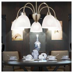 etc-shop Kronleuchter, Hänge Leuchte Decken Pendel Lampe Kronleuchter Glas im Set inklusive LED Leuchtmittel