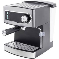 Princess KM 54.07 Espressomaschine mit Siebträger Edelstahl, Schwarz 850W