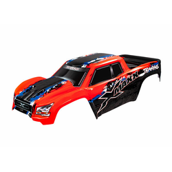 Traxxas TRX7811R Karosserie XMAXX rot mit Aufkleber