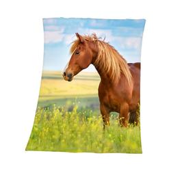 Kinderdecke Kuscheldecke Pferde, 130 x 160 cm, Herding