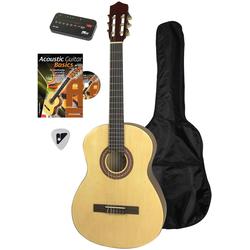 Voggenreiter Akustikgitarre Akustikgitarren-Set 4/4 beige Gitarre Musikinstrumente Gitarren