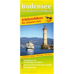 Bodensee mit Bodensee-Radweg 1:130 000