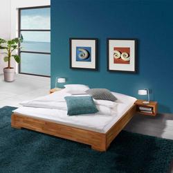 Bett aus Kernbuche Massivholz Nachttisch