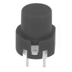 Eingabetaster 0,1 A 32V DC, rund, schwarz
