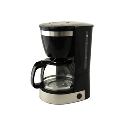 Kaffeemaschine Deski Edelstahl-schwarz 1,25 Ltr. 800 Watt