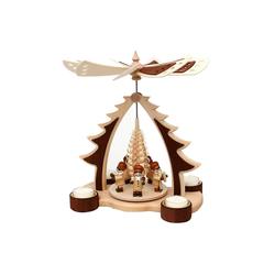 SIGRO Weihnachtspyramide Holz Tischpyramide, 4 Teelichter