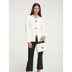 Blazer mit Kontrastknöpfen beige Damen Anzüge