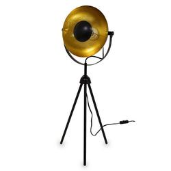 Kiom Tischleuchte Retro Dreibein Leuchte Small Alona schwarz + gold
