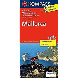 Kompass Fahrradkarten: Kompass Fahrradkarte Mallorca  2 Bl. - Buch