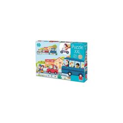 Goula Puzzle GOULA XXL-Puzzle Fahrzeuge, Puzzleteile