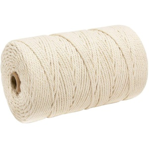 Dantazz 200m /3mm Naturliches Baumwolle Garn,Baumwollgarn Basteln,baumwollkordel weiß,Kordel DIY Handwerk,makramee garn DIY (3mm / 200m, Reis weiß)