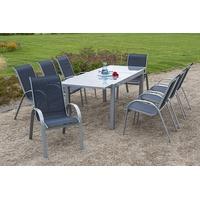 Tisch 220 x 90 cm marineblau