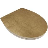 Sitzplatz SITZPLATZ® WC-Sitz Golden Touch, mit Absenkautomatik,