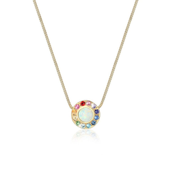 Elli Collierkettchen Opal Regenbogen Kristalle 925 Silber