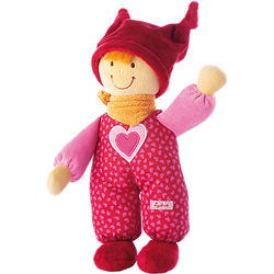 Stoffpuppe Babydolly Püppchen rot, 24 cm (49283)