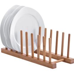 Zeller Present Geschirrständer, aus Bambus, für bis zu 8 Teller beige Küchenaccessoires Wohnaccessoires Geschirrständer