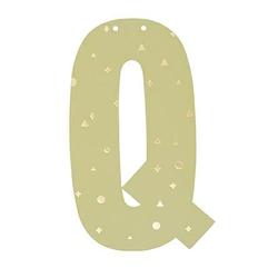 Buchstabe Q fuer Girlande